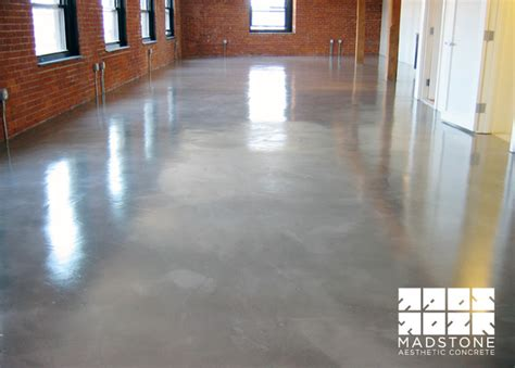polished concrete floor in boston loft modern other