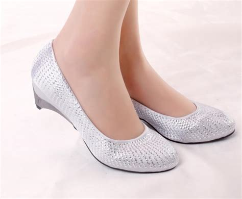 Short Heels Wedding Shoes Heeled Height 4.5 Cm Bride Shoes