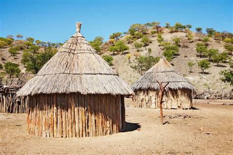 hutte nomade traditionele afrikaanse hutten namibi 235 stock afbeelding