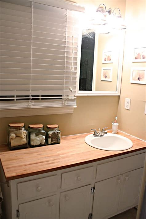 butcher block bathroom countertop pin by nicole geil on diy craft ideas pinterest