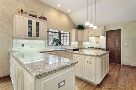 kitchen with island and peninsula pictures of kitchens traditional off white antique