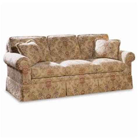 traditional sofas with skirts sherrill traditional loose back swivel chair ottoman