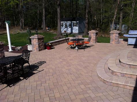 Putting In Pavers Patio Pavers Marlboro Nj 07746 Raised Patio Driveway Walkway Steps Pool Deck