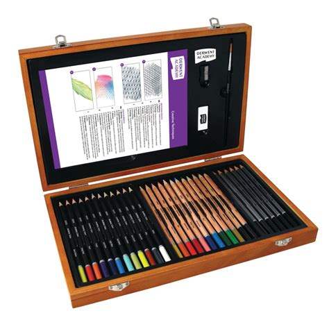Cutie Set set creioane in cutie de lemn picturaonline ro