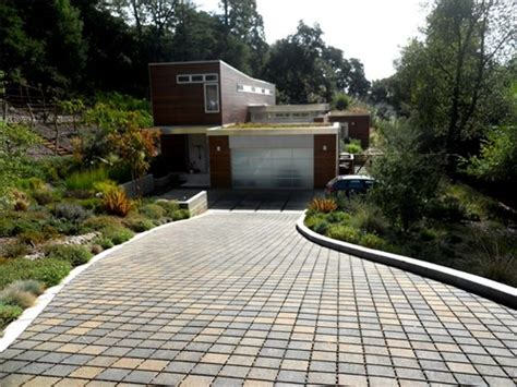 sloped backyard solutions driveway drainage solutions a b c na arquitectura