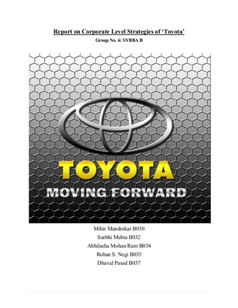 Toyota Vision Login Toyota Analysis Of Vision Statement Corporate Level