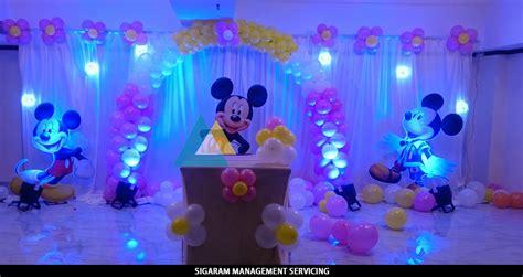 Mickey mouse themed birthday decoration le royal park hotel pondicherry 171 sigaram wedding