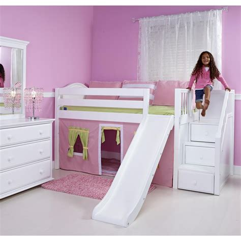 girl bunk beds with slide ideas girl loft bed with slide girl loft bed with slide