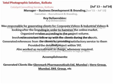 Resume Development In Kolkata by Resume Of Abhishek Kundu For Business Development Manager