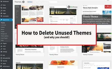 installation and use of should i remove it program how to delete unused themes and why you should wordher