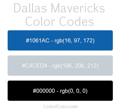 mavericks colors dallas mavericks colors hex and rgb color codes