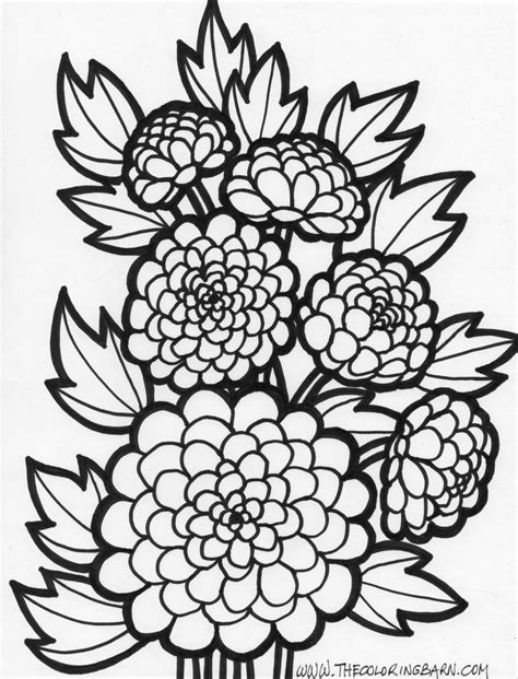 Flowers Coloring Pages Free Large Images Flower Coloring Pages Free