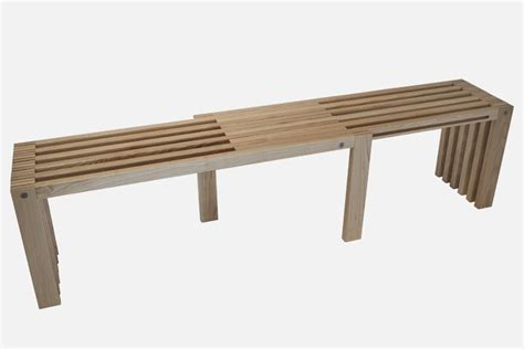 design bench minimalist bench exemplified in adjustable seat
