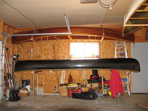 Canoe Garage Storage by Canoeing