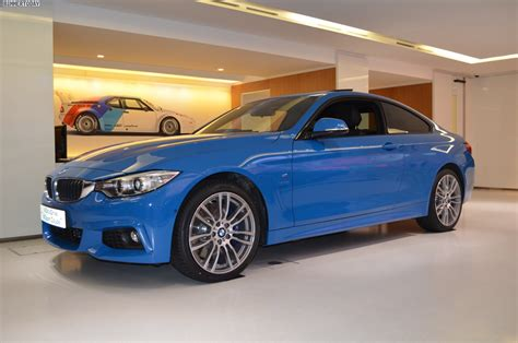 bmw individual bmw 4 series coupe in blue individual color
