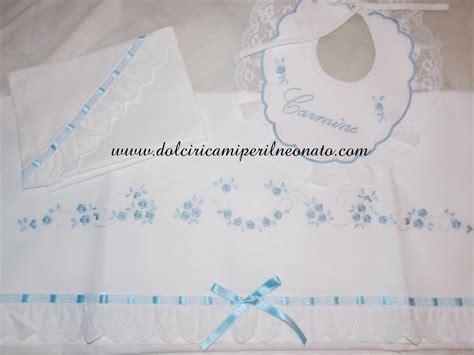 lenzuoline per culla dolci ricami per il neonato lenzuolini x carrozzina o culla