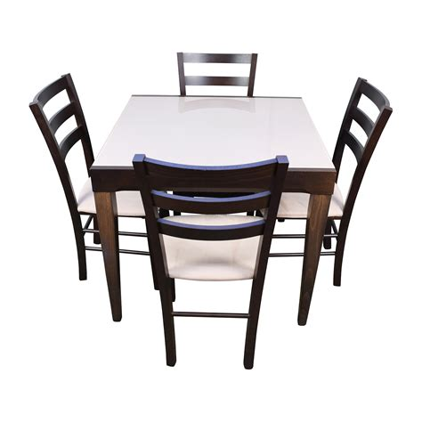 extendable dining sets 82 off macy s macy s cafe latte five piece extendable