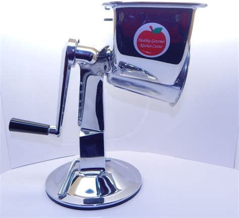 healthy gourmet kitchen cutter food processor chrome