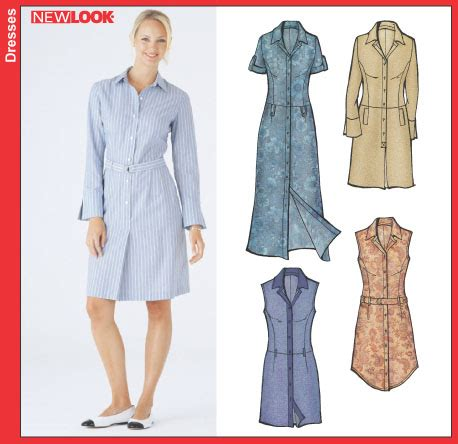 pattern for shirt dress new look 6214 misses shirt dress