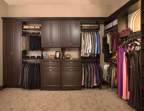 Custom Closet Storage by Custom Walk In Closet Organizers Chocolate Pear