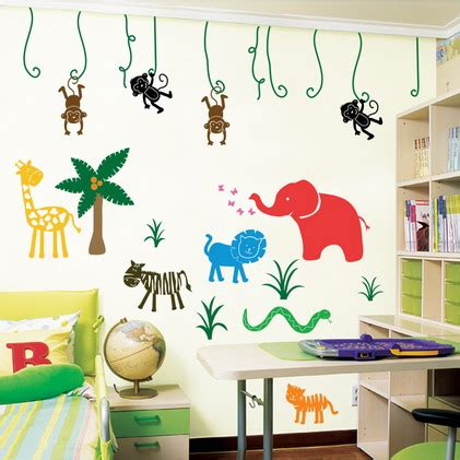 childrens bedroom stickers for walls animal bedroom wall sticker decal ideas for