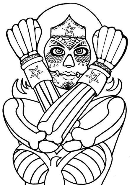 wonder woman mask coloring page yucca flats n m wenchkin s coloring pages dia de los