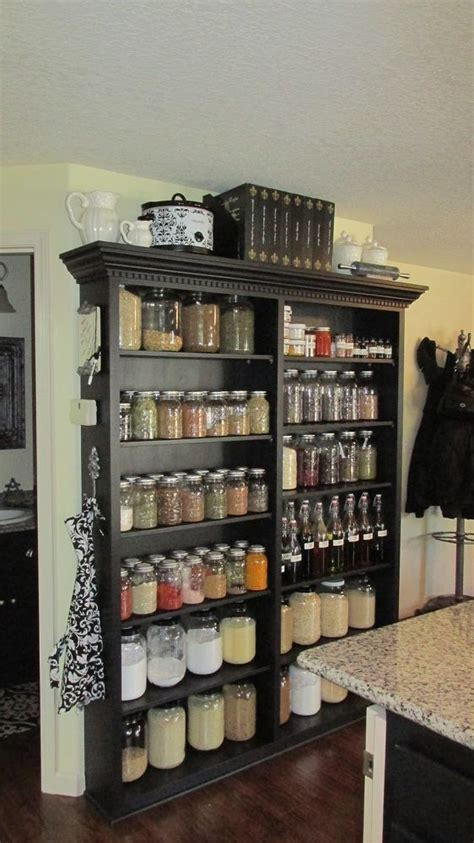 diy kitchen shelving ideas best 25 bookshelf pantry ideas on wood crate