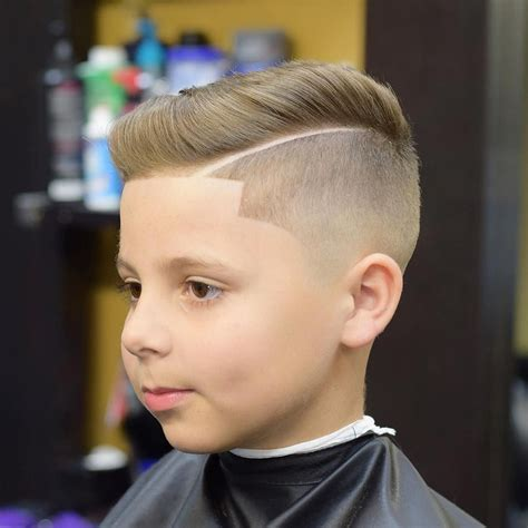 boys straight short haircut age 11 side part with line up haircuts for boy kid boy line up