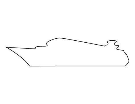 boat outline printable cruise ship pattern use the printable outline for crafts