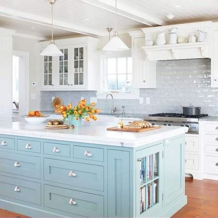 blue kitchen islands kitchens with color diy