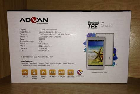 Tablet Advan Android Jelly Bean jual tablet advan vandroid t2e layar 7 quot dual jelly bean wifi support bbm konterhp