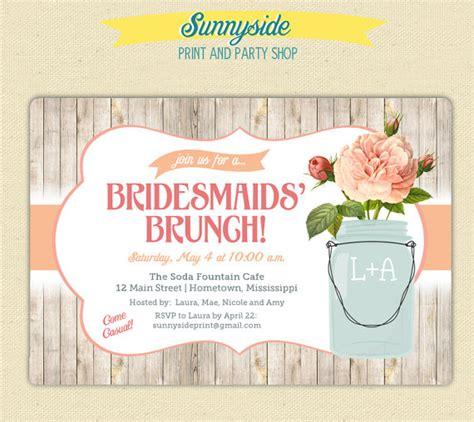 free printable bridal shower brunch invitations mason jar rustic bridal shower brunch invite printable