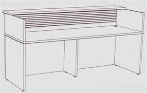 Reception Desk Sizes Custom Size Linear Reception Desk 5 Width