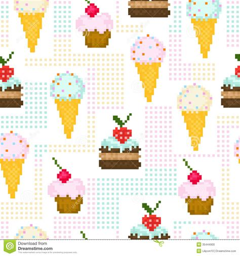 pixel pattern backgrounds tumblr seamless pattern with pixel sweets stock vector image