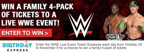 Express Giveaway - wwe live event tickets giveaway my 3 ring circus of a life