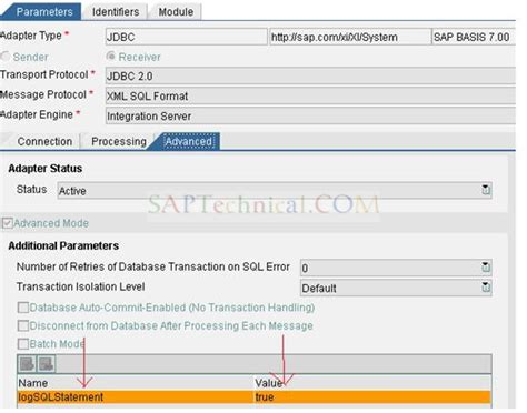 jdbc tutorial sap pi saptechnical com how to enable the log to track the sql