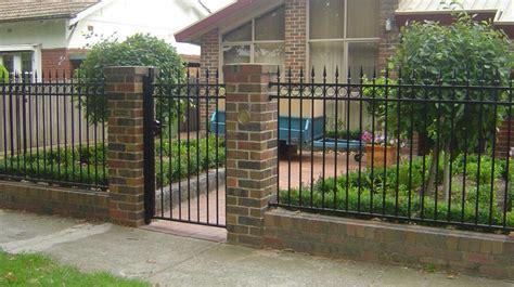 front yard brick fence designs front fences melbourne front yard fencing front garden