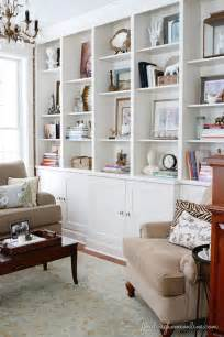 Decorating Built In Bookshelves Small House Solutions The Inspired Room