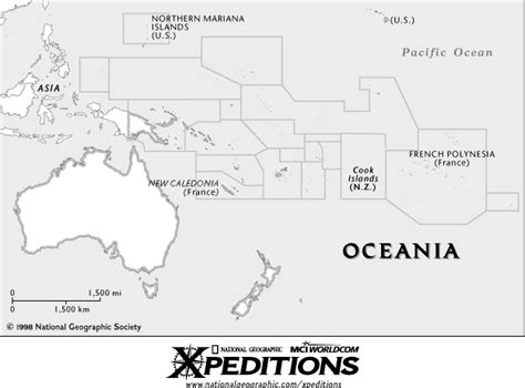 oceania outline map map outlines