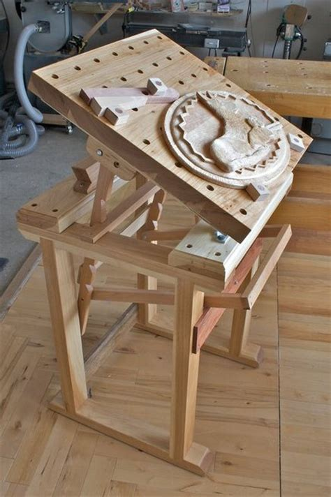 portable wood carving bench  woodworking