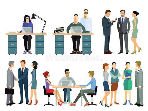 clipart ufficio impiegati in ufficio illustrazione vettoriale