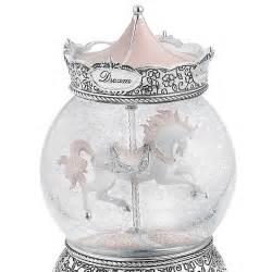 musical snow globes carousel musical snow globe