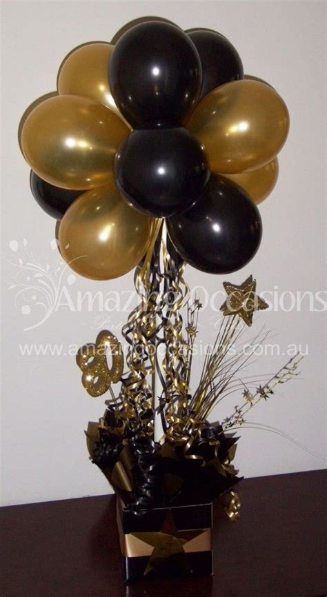 black and gold centerpieces for tables black and gold balloon table centerpieces pictures to pin