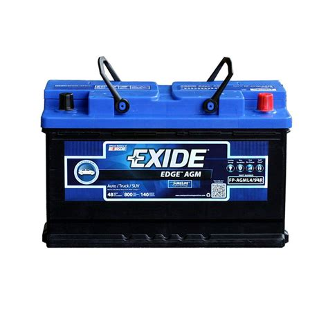edge automotive batteries parts l4 94r h7 auto agm