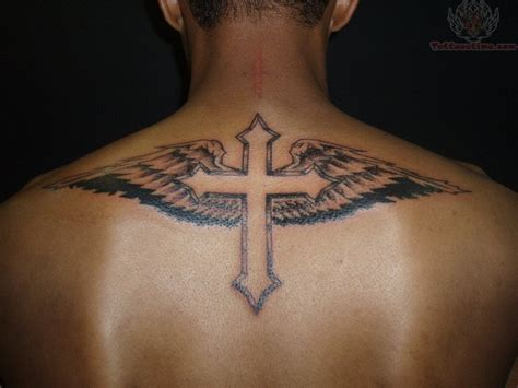tattoos cross with angel wings wings and cross