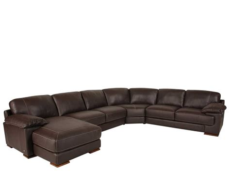 furniture brown leather sectional with chaise