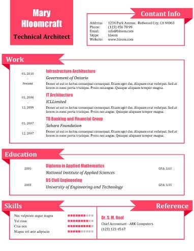 Free Resume Templates For Word The Grid System Pink Resume Template Free