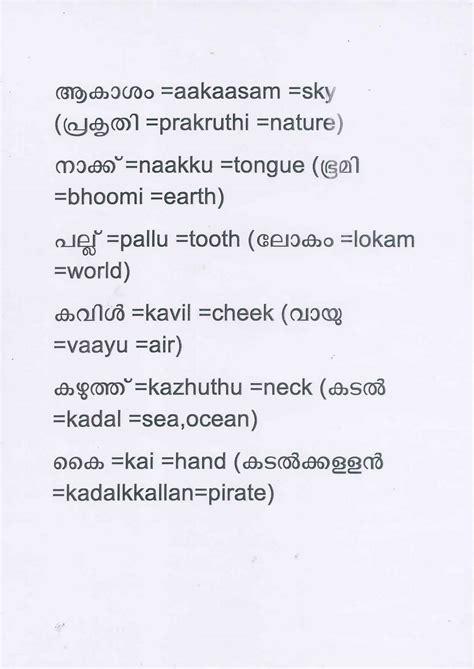 Pattern Word Meaning In Malayalam | malayalam words