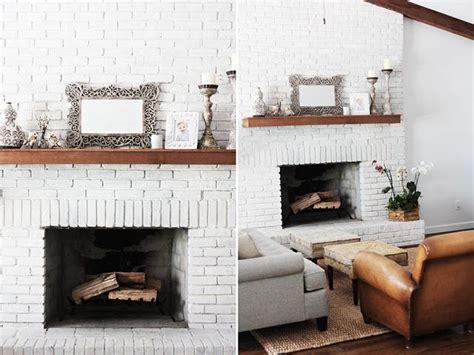 gas kamin surround white brick fireplace home brick