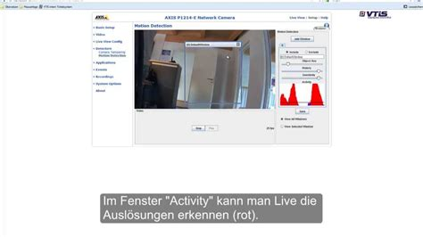 motion detection axis p1214 e motion detection videotutorial